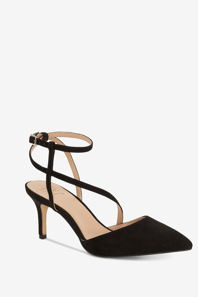 Women's Pointed Toe Suede Pump, Black