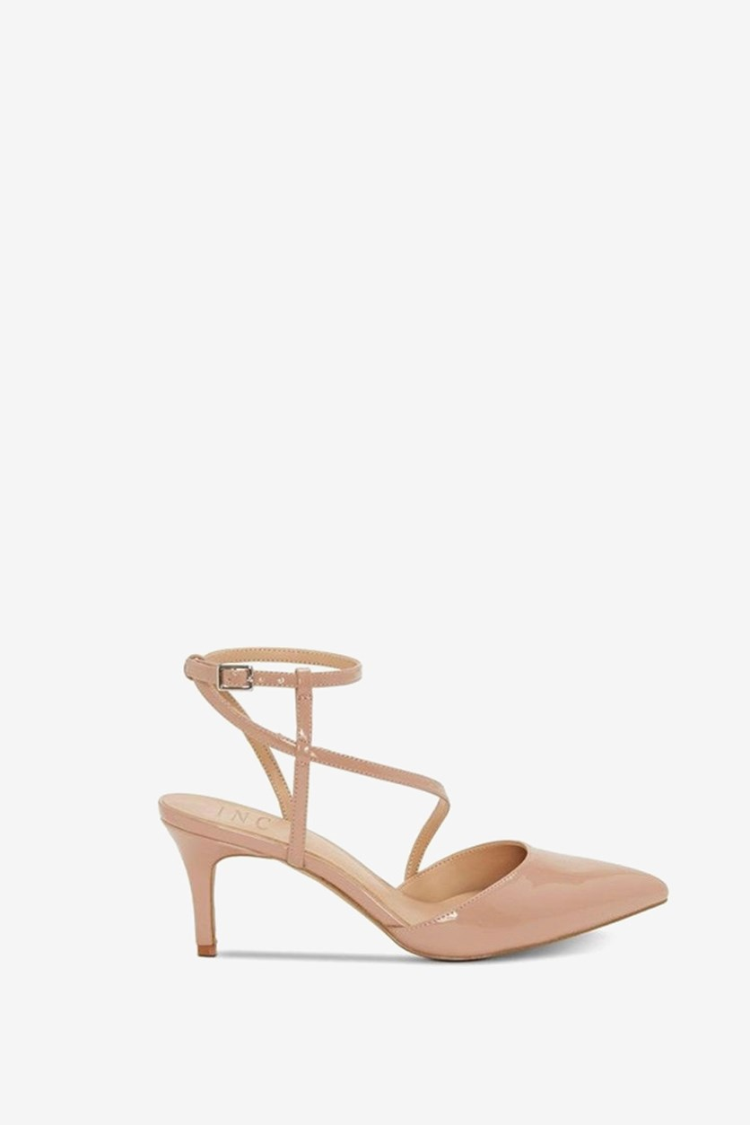 Women's Lenii Pointed Toe Pumps, Nude Patent