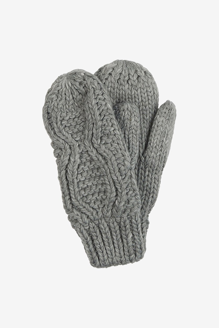 Women's Knitted Gloves, Gray