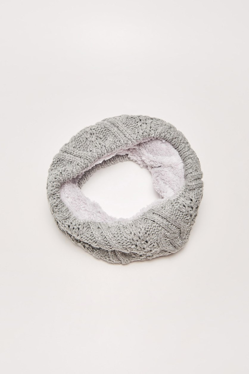 Women's Circle Scarf, Grey