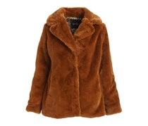 Women's Faux Fur Coat, Cognac