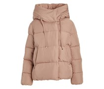 Women's Quilted Hi-Low Puffer Jacket, Blush