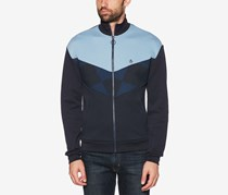 Men's Colorblocked Track Jacket, Navy/Blue
