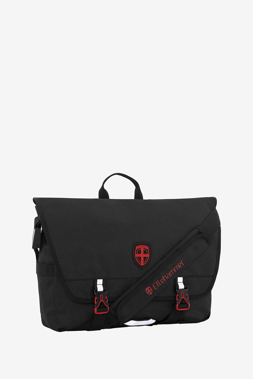 Men's Messenger Bag, Black/Red