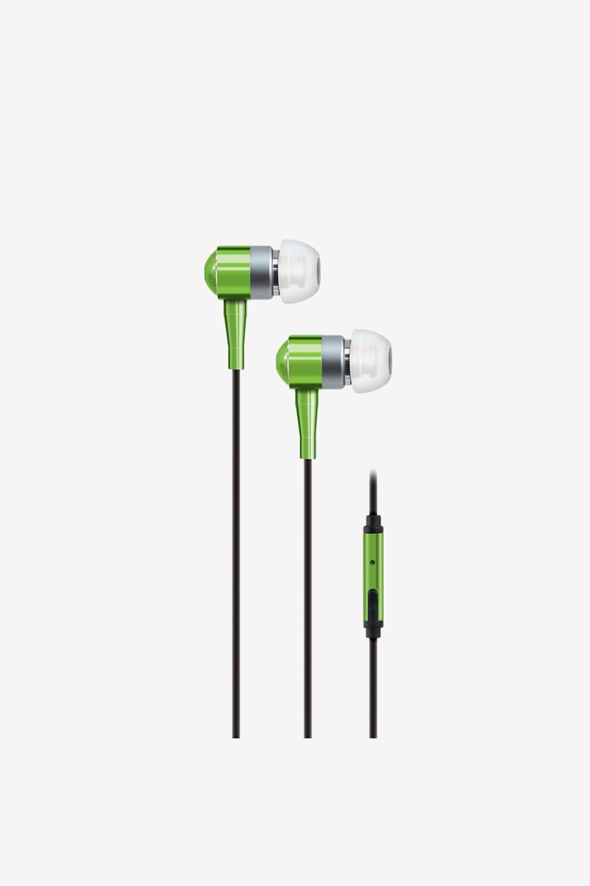 Stereo Earbuds with Microphone, Green