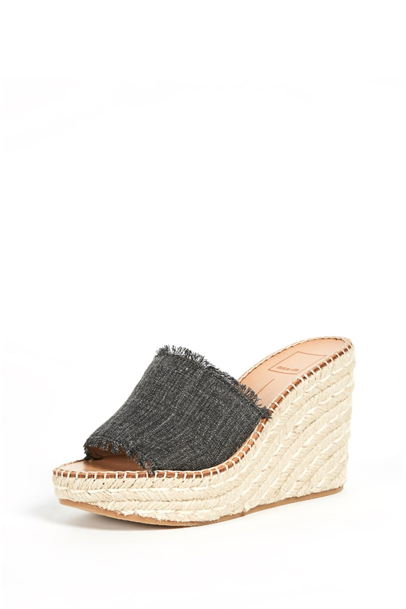 Women's  Pim Platform Wedge Slide, Ash Denim