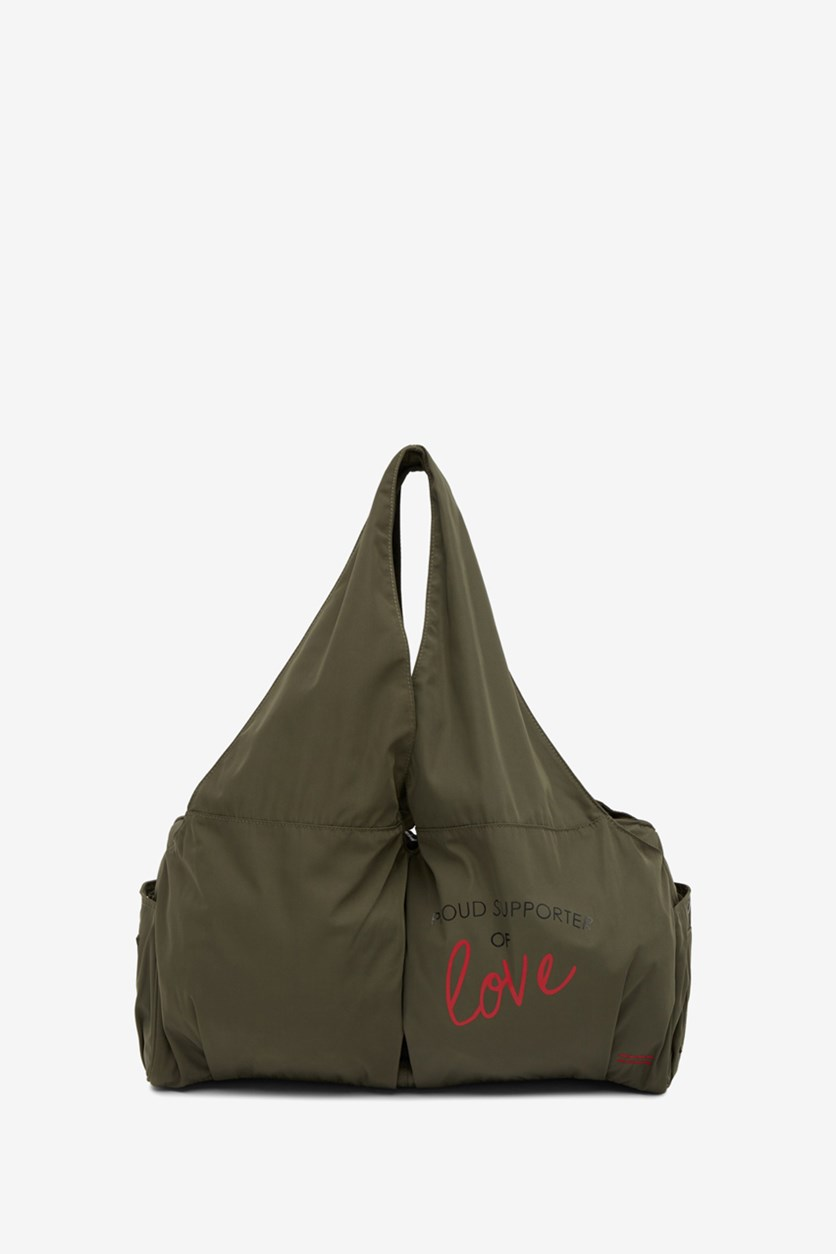 Women's East West Gym Tote Bag, Army Green