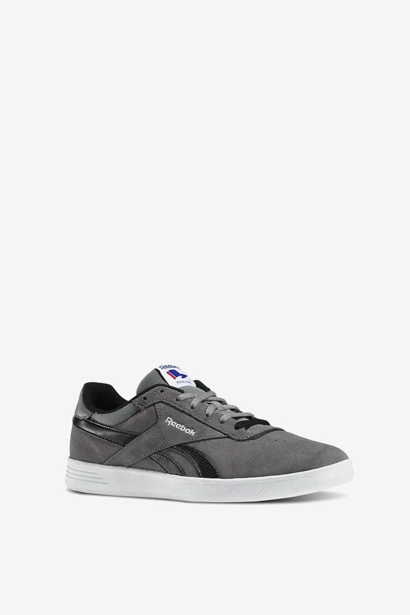 Men's Royal Slam Suede Shoes, Foggy Grey/White