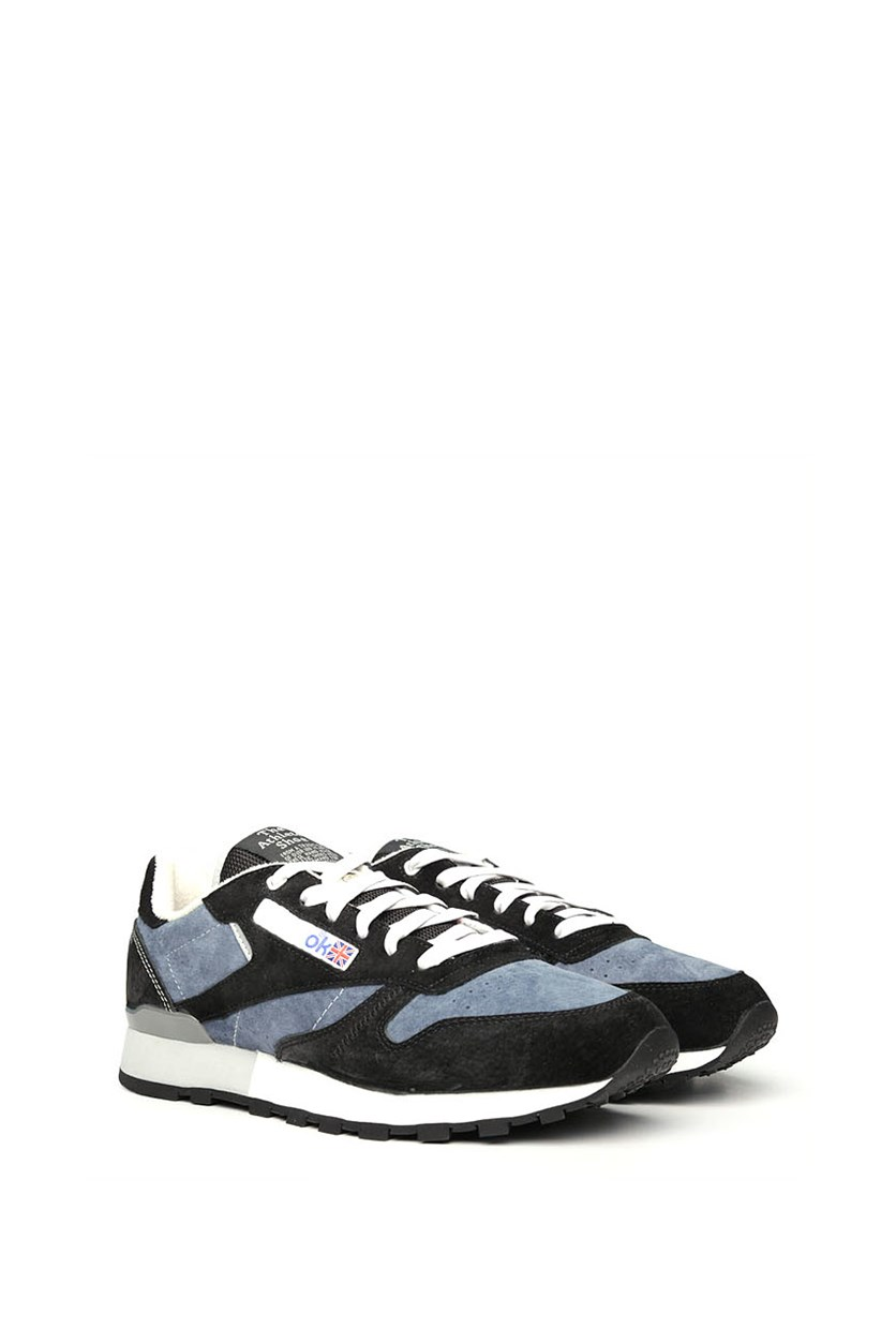 Men's Garbstore Classic Leather Shoes, Midnight Blue/Black/White