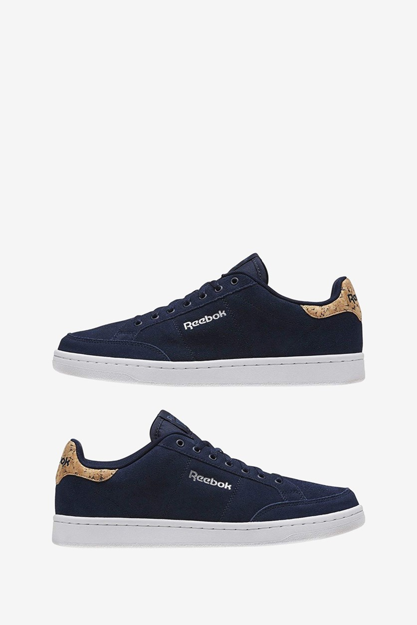 Men's Royal Smash Suede Shoes, Navy/White