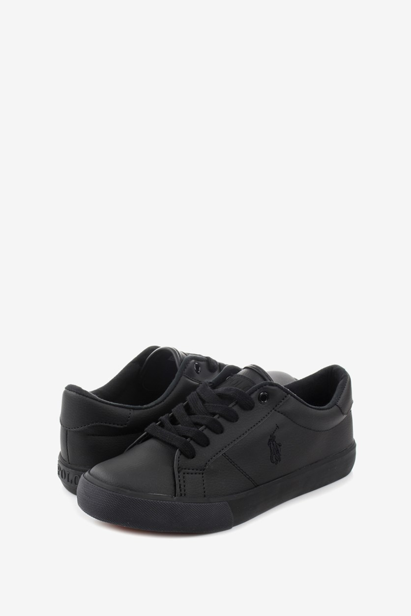 Boy's Edgewood Shoes, Triple Black