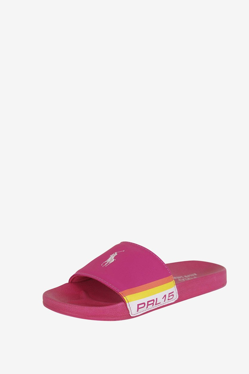 Kids Girls Fletcher Slide, Pink/white