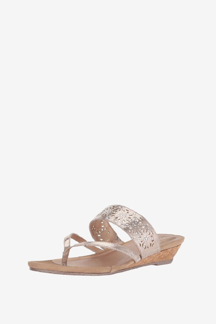 Great Chime Low Thong Sandals, Rose Gold