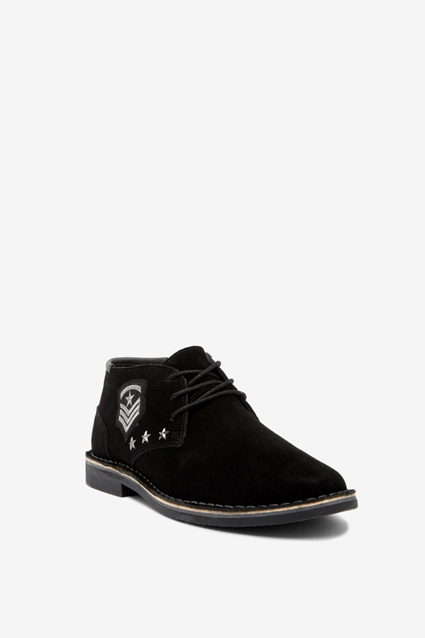 Men's Desert Sun Embellished Suede Chukka Boot, Black
