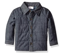 Baby Boy's Quilted Chambray Shirt, Blue