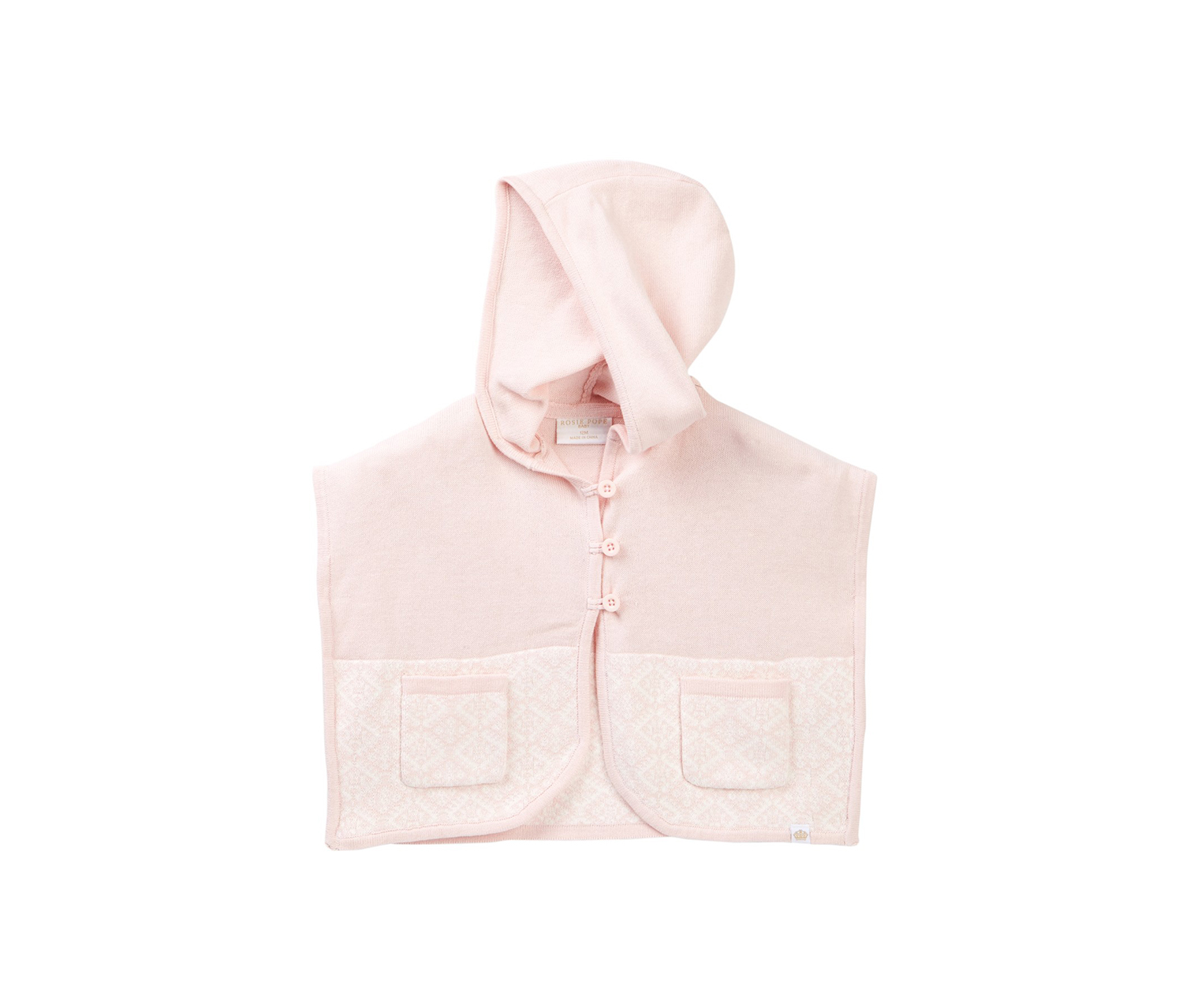 Baby Girl's Poncho Sweater, Pink