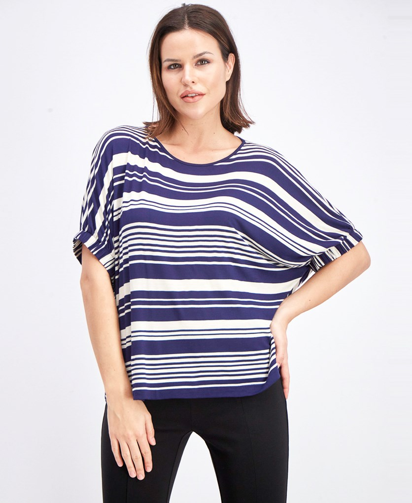 Women's Baden Boxy Dolman Knit Top, Navy