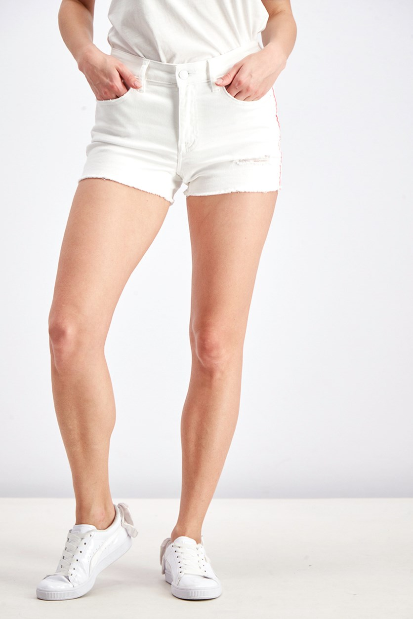 Women's Five Pocket Short, White