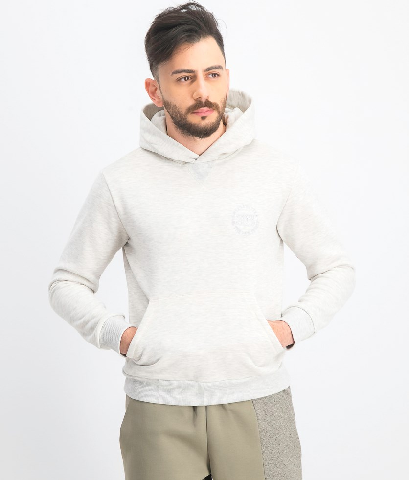 Men's Hoodie Sweater, Heather White