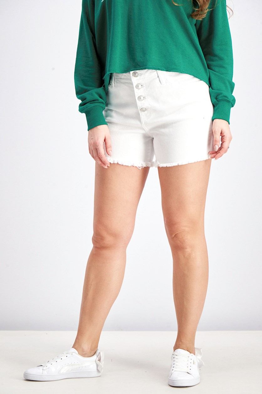 Women's Button Fly Short, White
