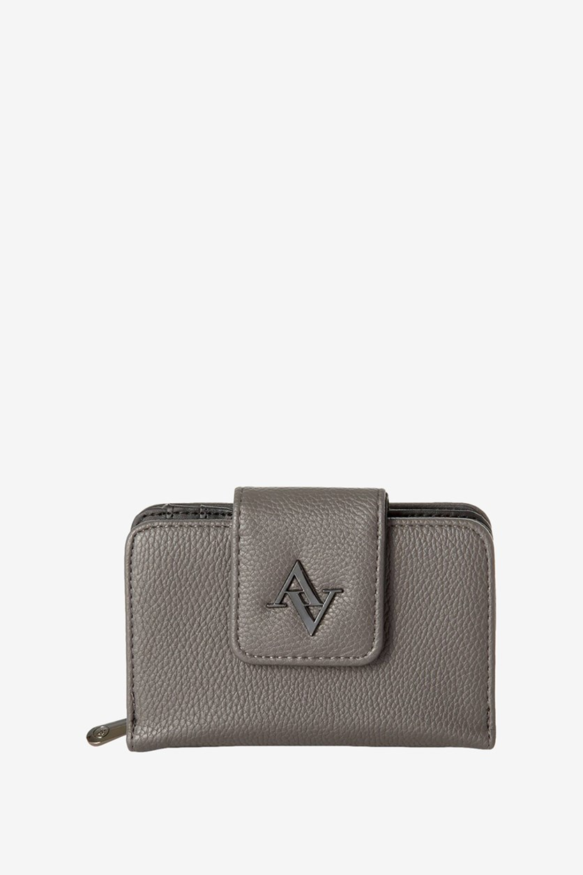 French Purse Wallet, Asphalt Pebble