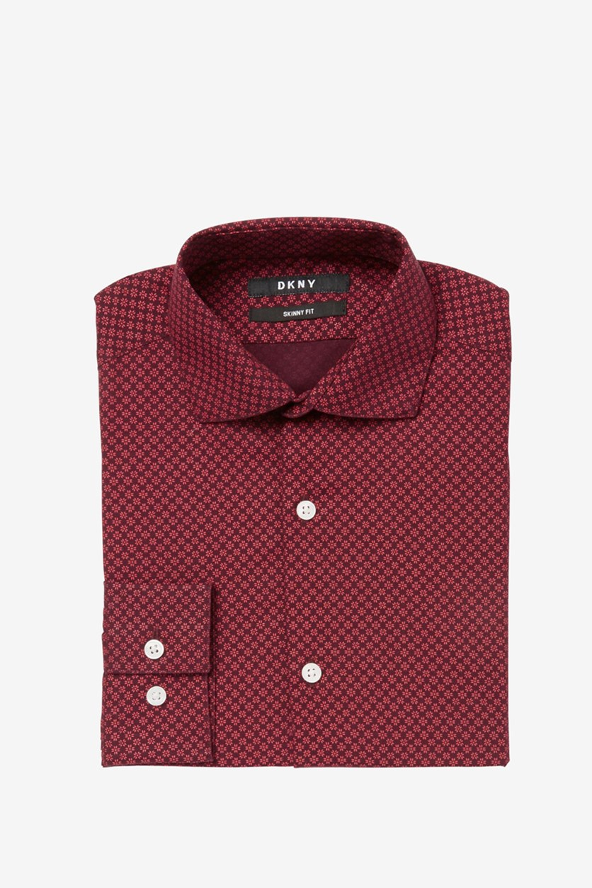 Big Boys Neat Foulard Shirt, Red