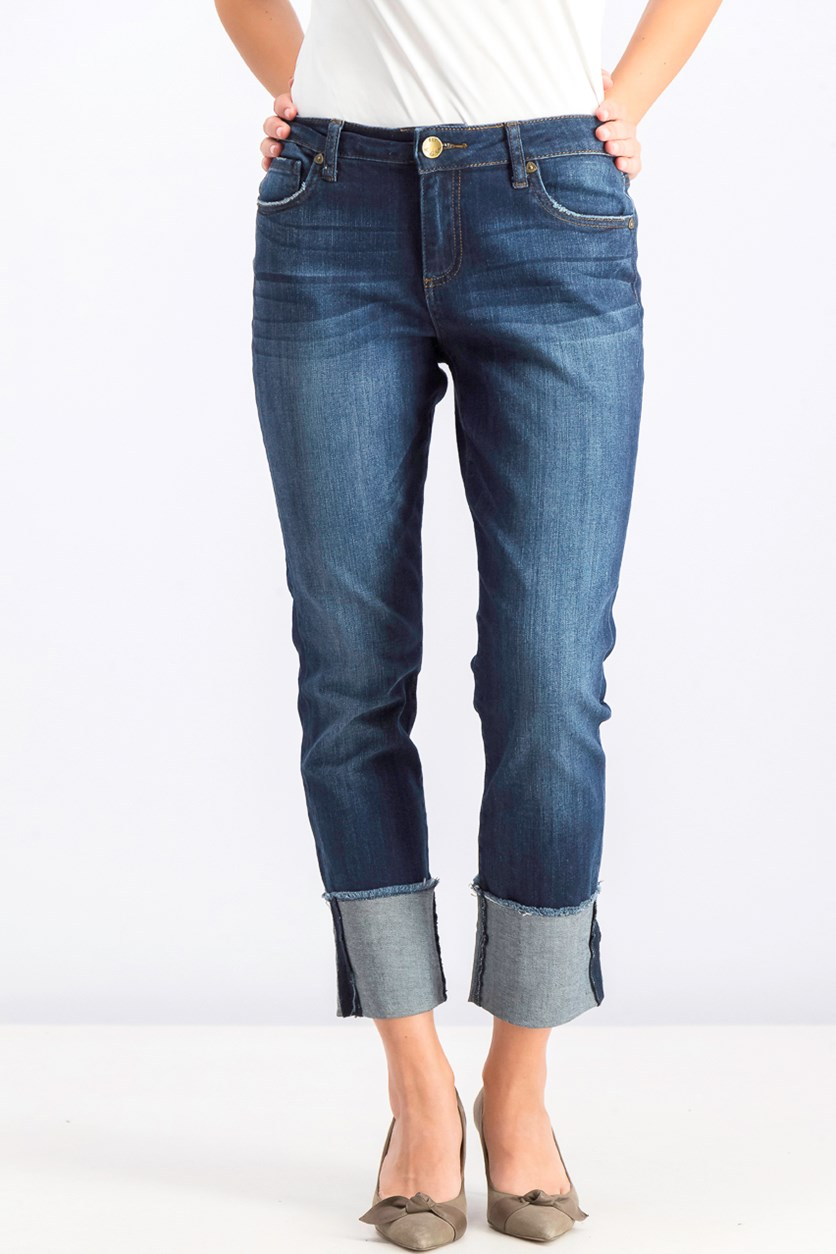 Women's Straight Leg Jeans, Blue Wash