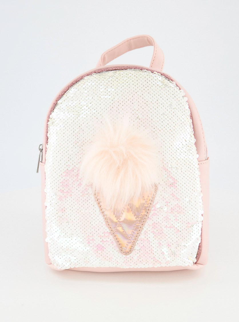Kids Girls Sequin Ice Cream Mini Backpack, Pink