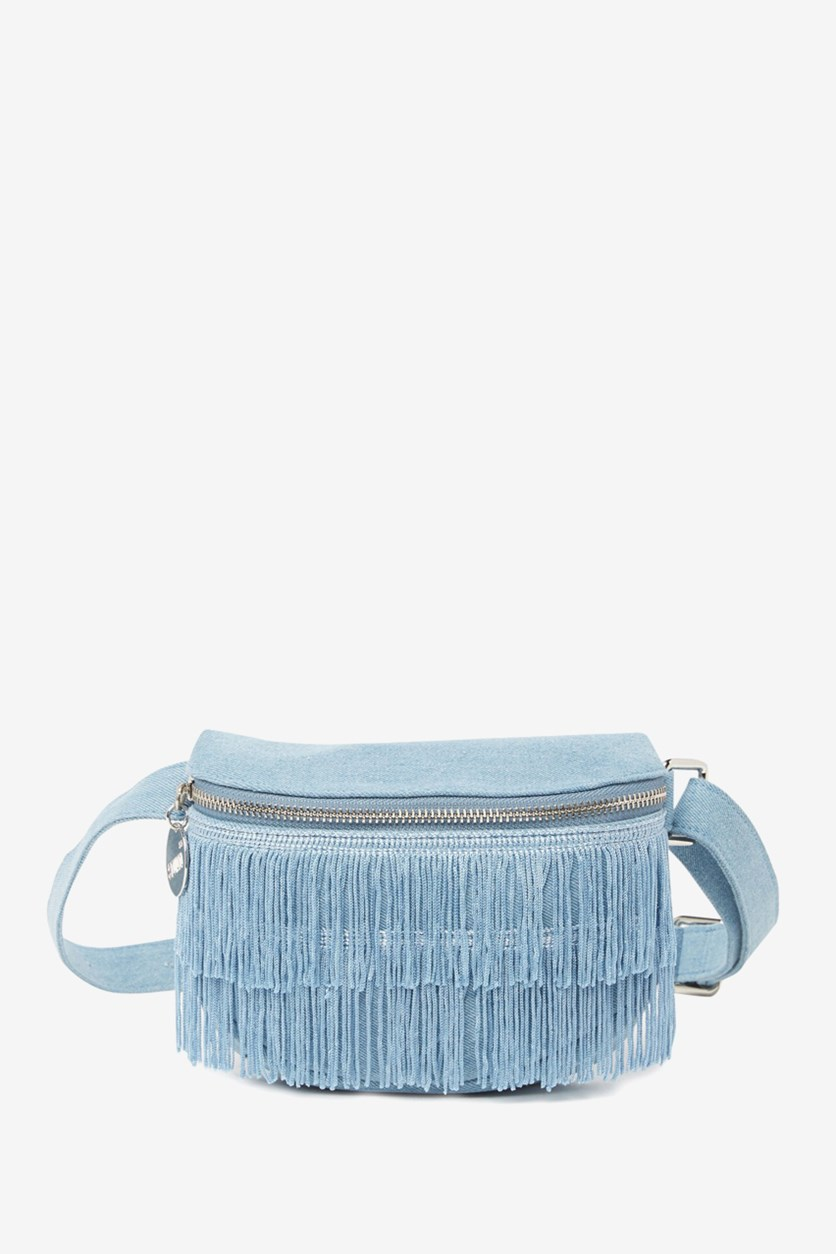 Women's Off The Chain Fringe Bum Bag, Denim