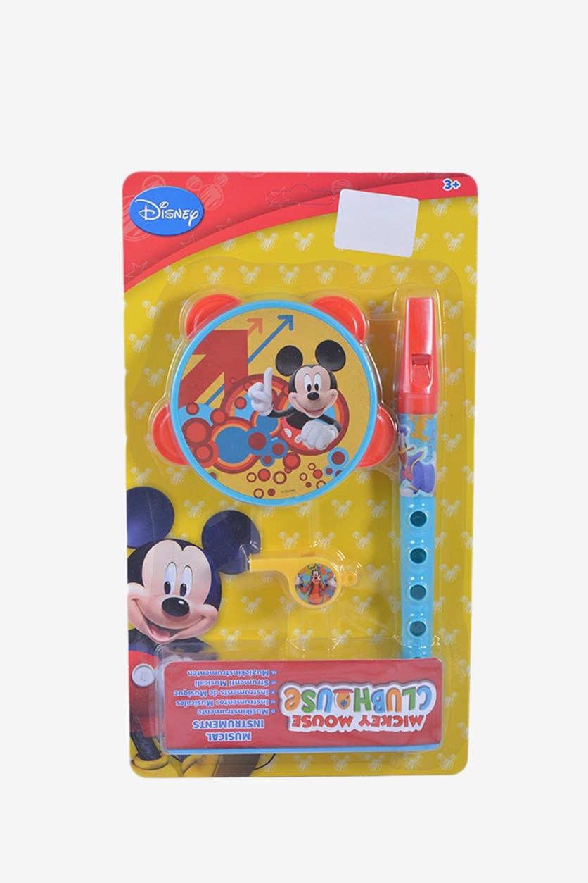 Mickey Mouse 3 Piece Set Musical Instruments, Yellow/Blue