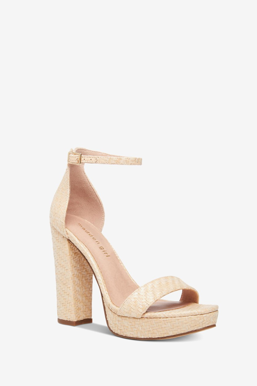 Women's Suzy Platform Sandals, Nat Raffia
