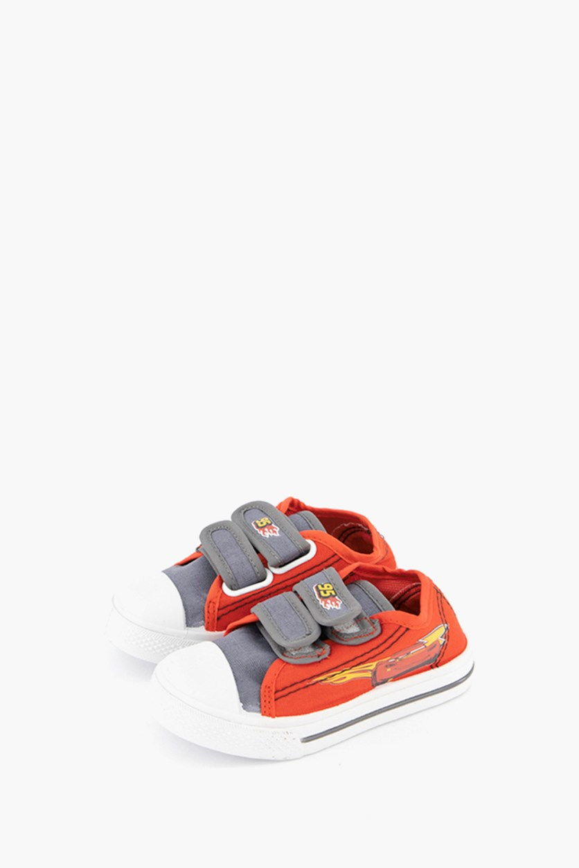 Kids Boys Cars Shoes, Red/Grey
