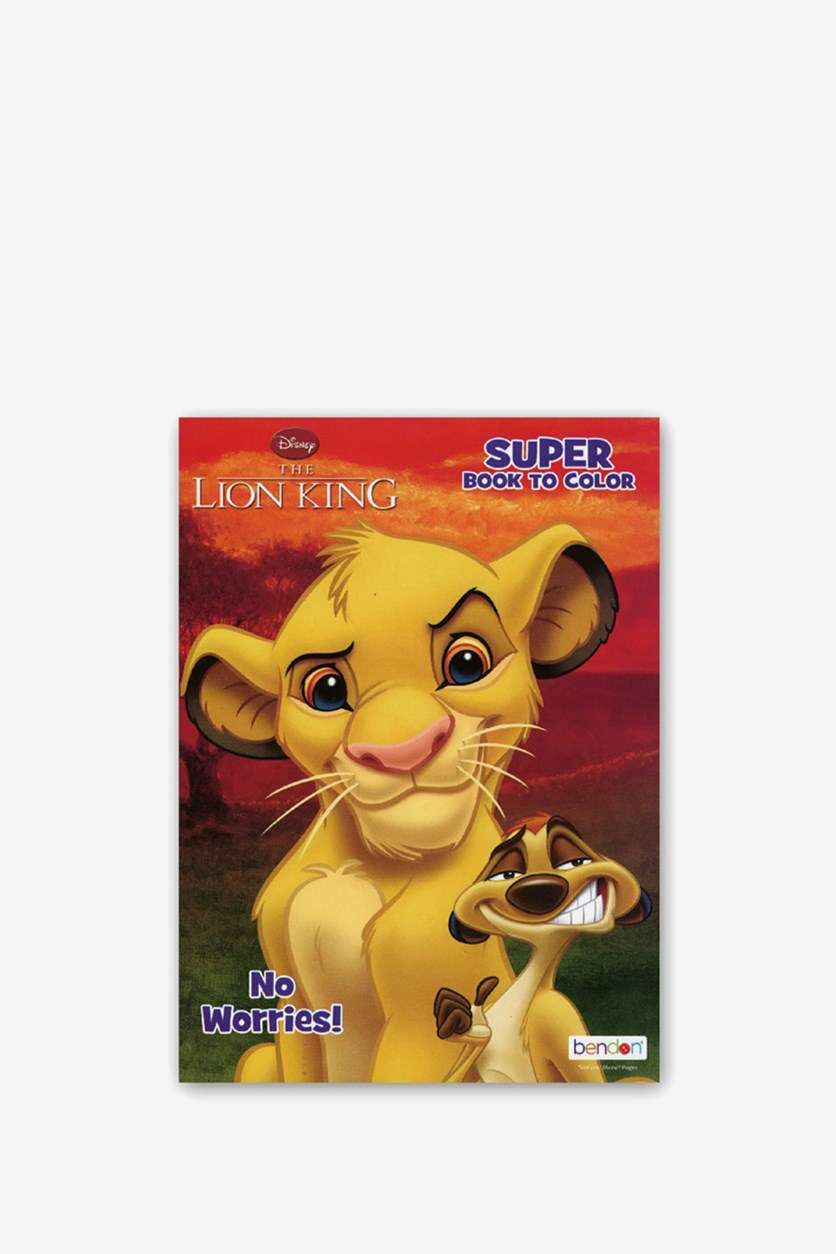 Lion King 80 Pages Coloring Book, Yellow/Red Combo