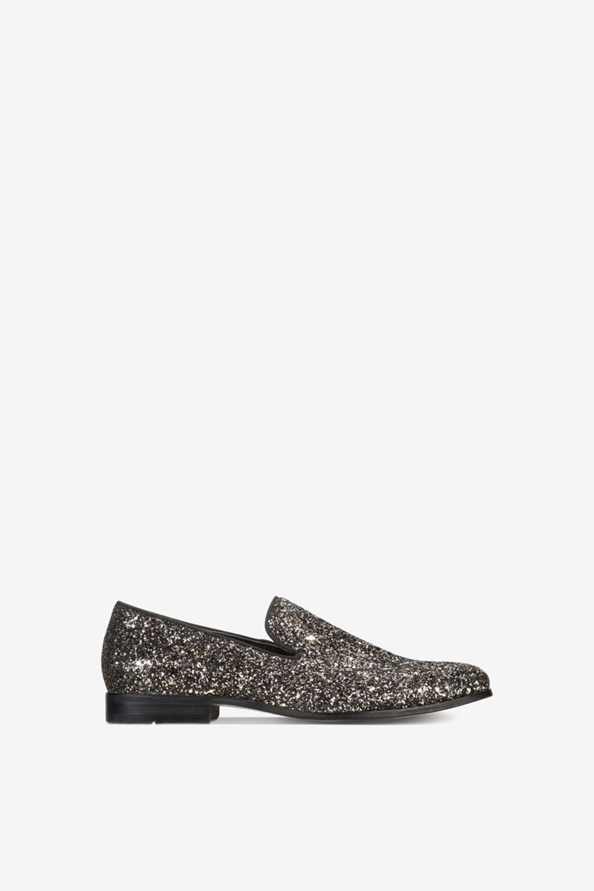 Men's Triton Glitter Smoking Shoes, Black/Gold