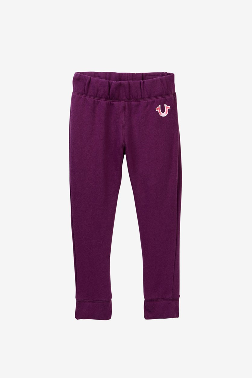 Little Girl's Sweat Pants, Purple