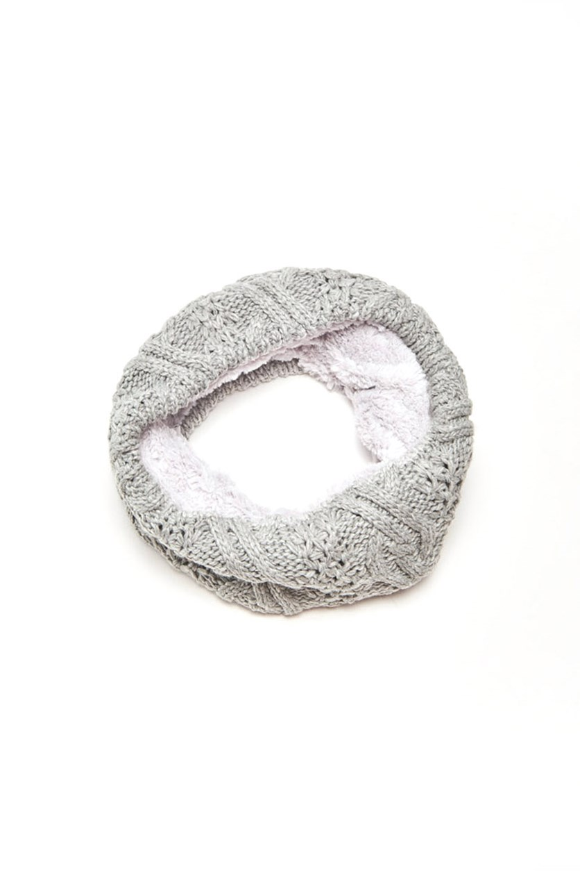 Women's Textured Snood, Grey