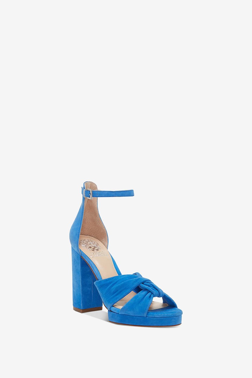 Women's Knotted Platform Dress, Myksnos Blue