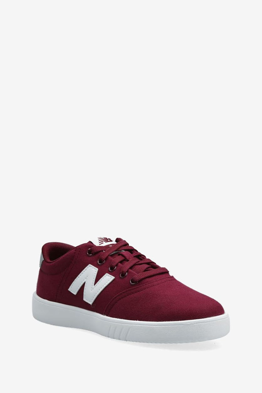 Women's Lace Up Sneakers, Burgundy