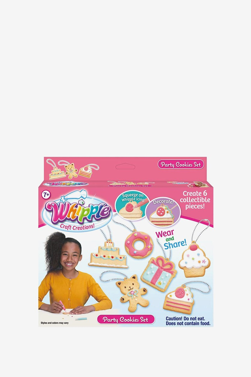 Decorated Party Cookies Set, Pink