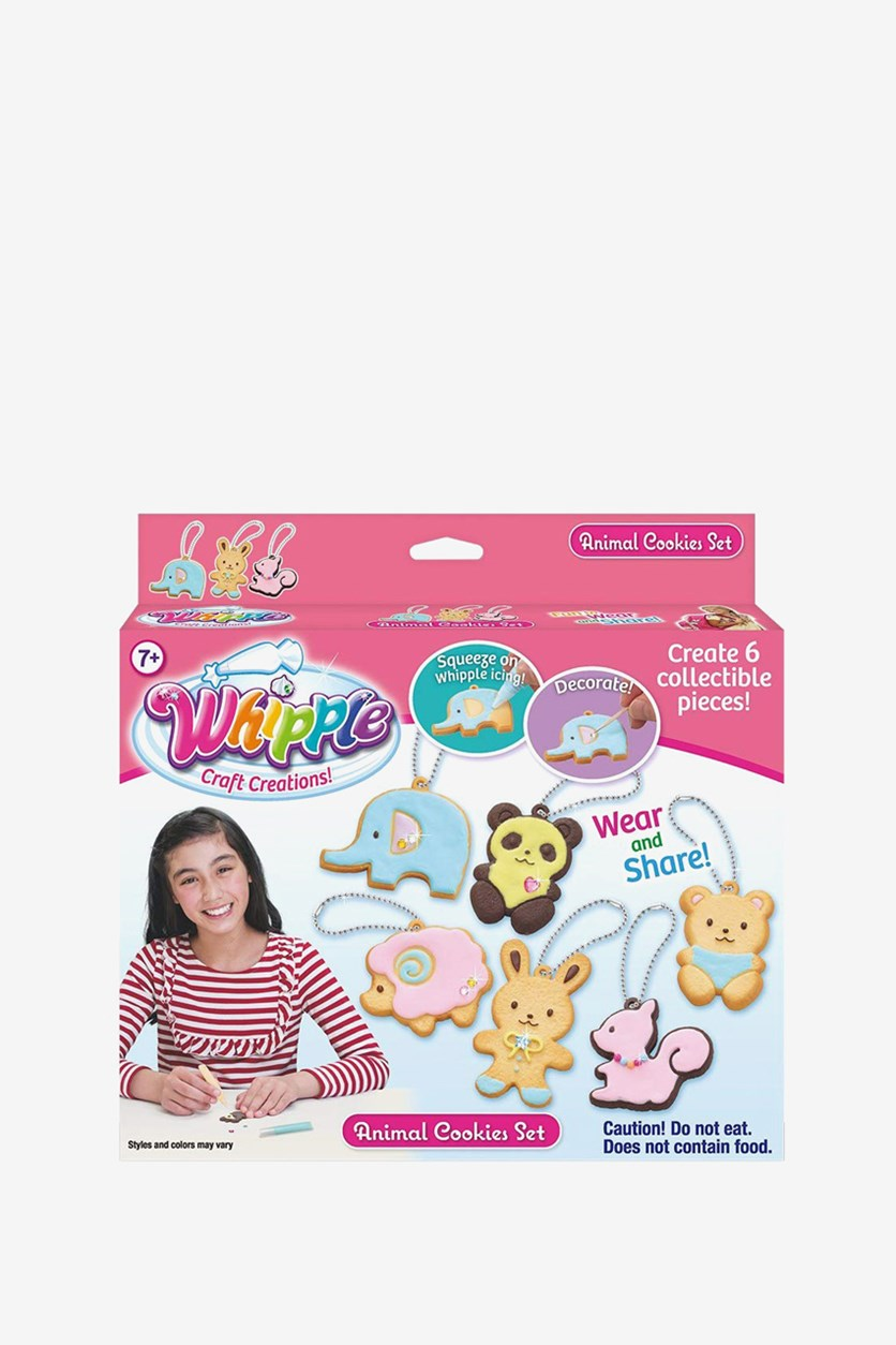 Animal Cookie Set, Pink Combo