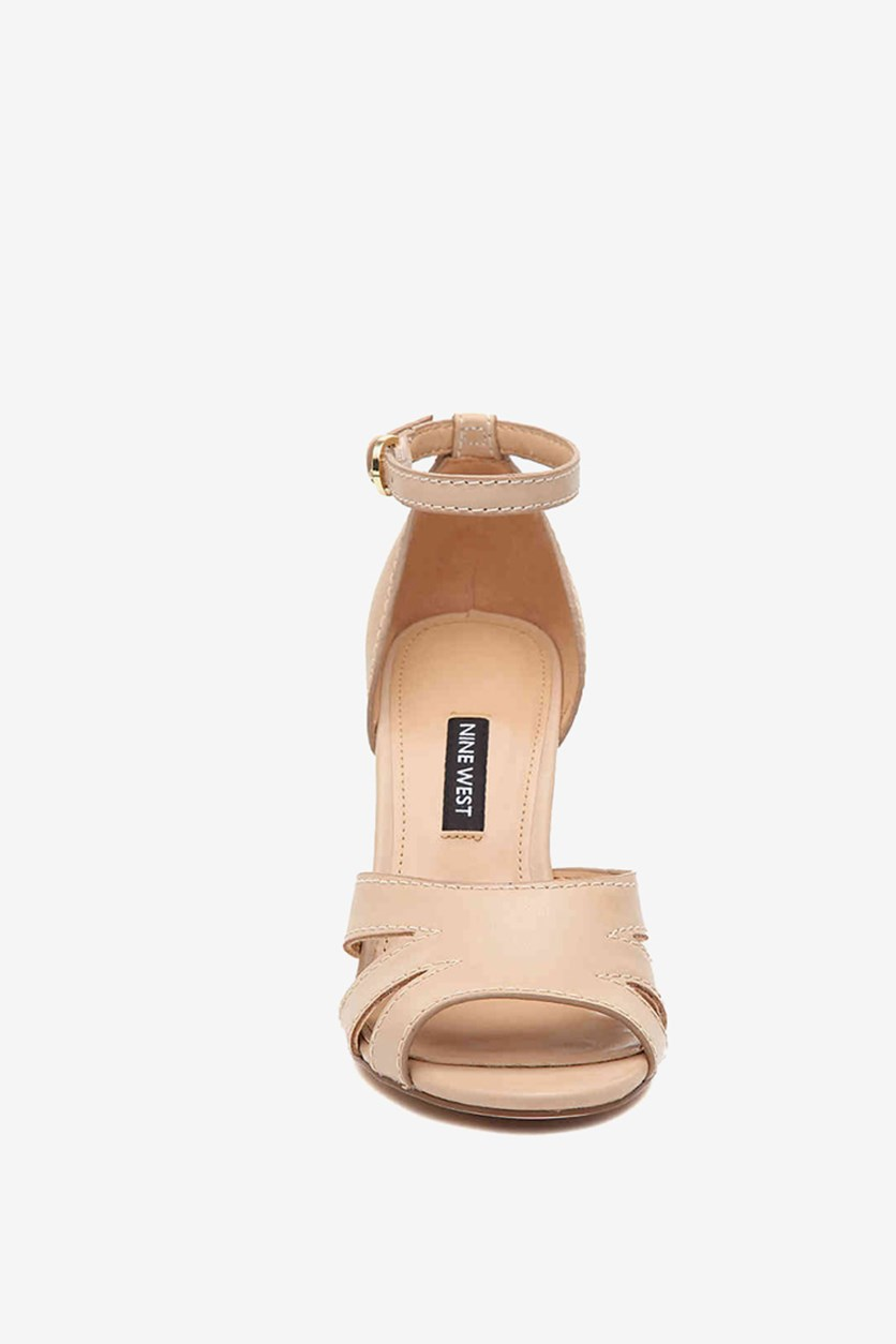 Women's Lilly Ankle Strap Wedge Sandal, Beige