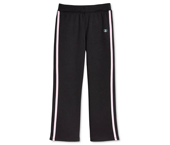 Champion Girls' Fit and Flare Pants, Black