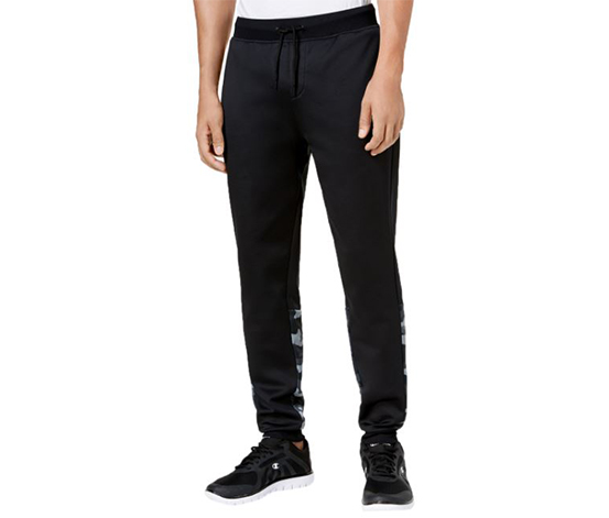 Men's Performance Colorblocked Joggers, Black