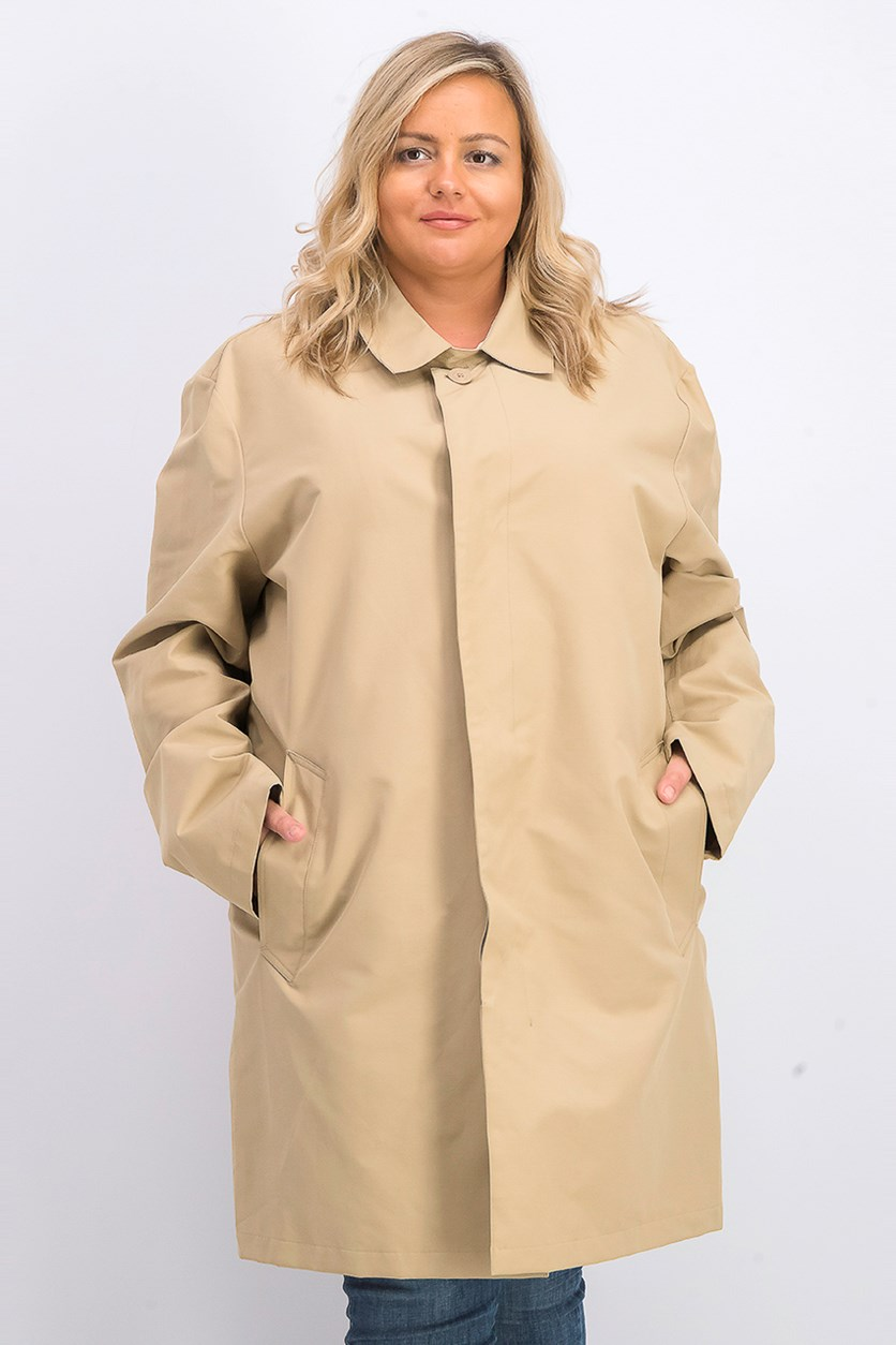 Women's Trench Coat Outerwear, Tan