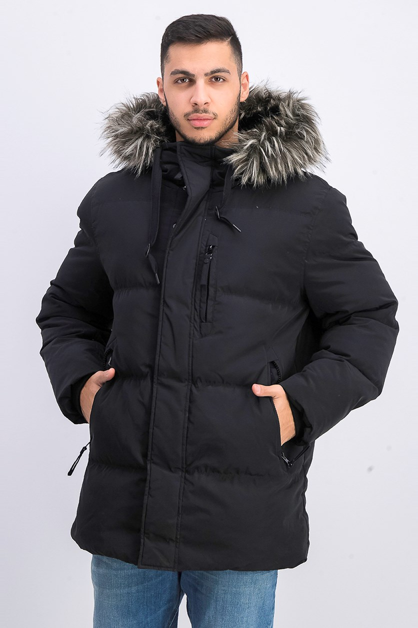 Men's Glasnevin Quilted Parka Outerwear, Black