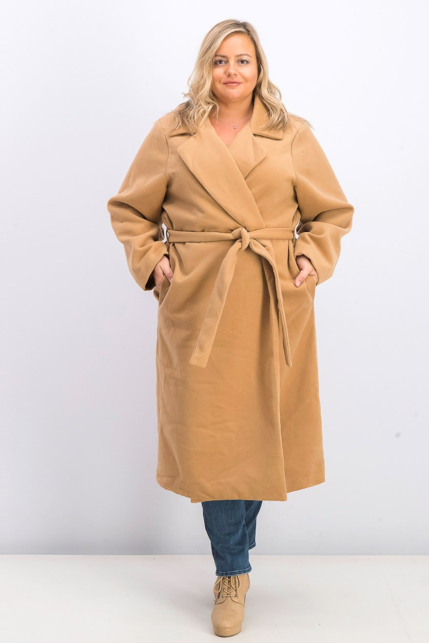 Women's Plus Size Colten Structured Coat, Camel