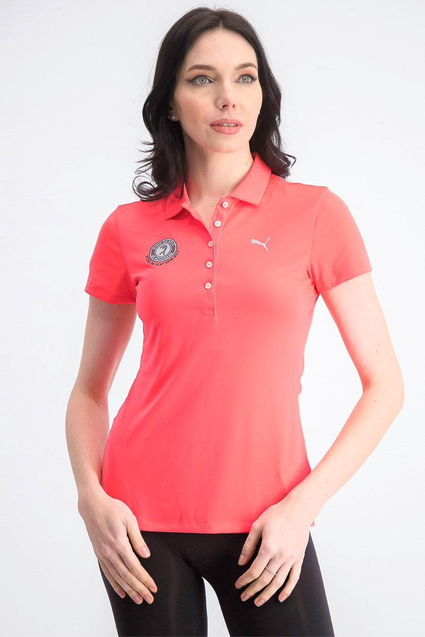 Women's Pounce Polo, Bright Plasma