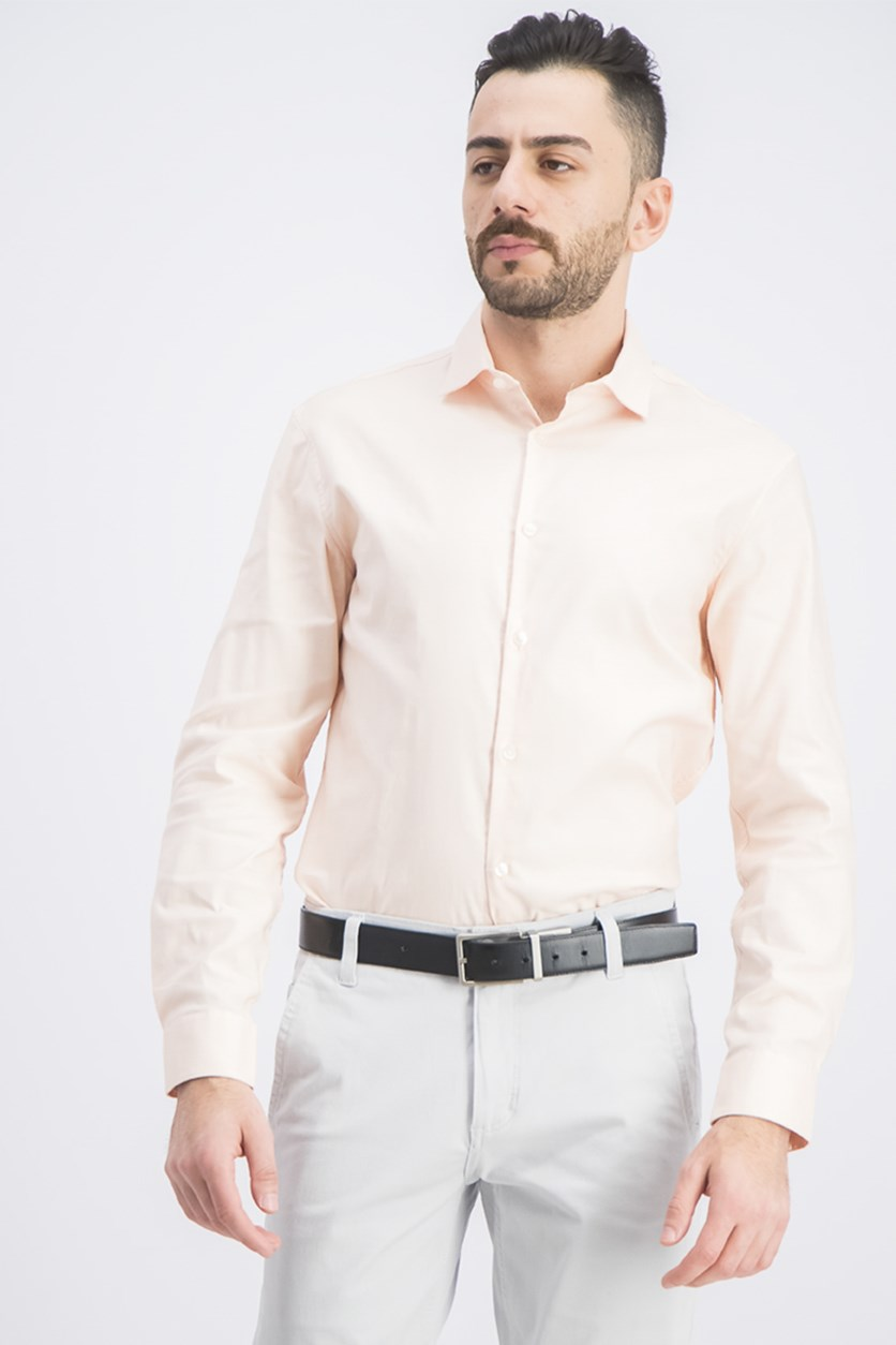 Men's Solid Extreme Slim Fit Dress Shirt, Tangerine
