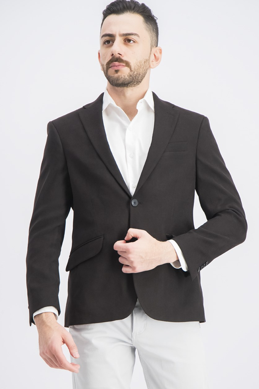 Men's Slim-Fit Ultrasuede Sport Blazer, Black