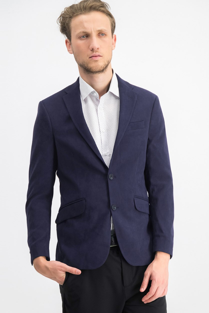Men's Slim-Fit Ultrasuede Sport Coat, Navy